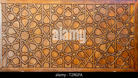 Arabic floral seamless pattern - traditional Islamic background. Wooden decorative element - Traditional turkish pattern, colorful mosaic tiles - Stock Photo