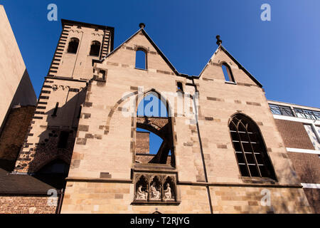 the church ruin Old St. Alban in the old part of the town, Cologne, Germany.  die Kirchenruine Alt St. Alban in der Altstadt, Koeln, Deutschland. - Stock Photo