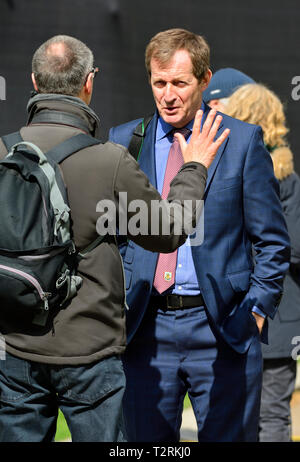 Alastair Campbell - journalist, broadcaster, political aide and author, former Downing Street Press Secretary for Tony Blair. College Green, Westminst - Stock Photo