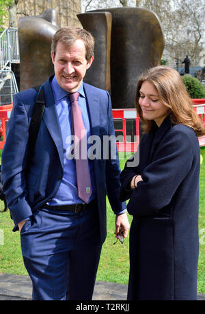 Alastair Campbell - journalist, broadcaster, political aide and author, former Downing Street Press Secretary forTony Blair. College Green, Westminste - Stock Photo