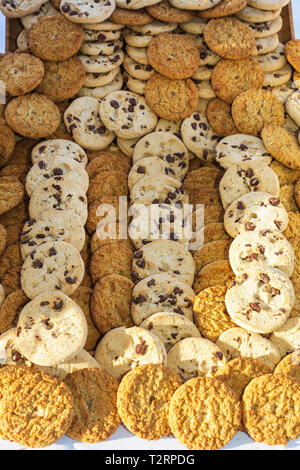 Florida, FL, South, Miami Beach, SoBe, Lummus Park, Nautica South Beach Triathlon, chocolate chip, cookies, carbs, sweets, snacks, snack food, sightse - Stock Photo