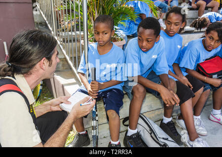 Miami Florida Moore Park Ashe Buchholz Tennis Center NCAA University of Miami Boston College sport mentoring after-school inner- - Stock Photo