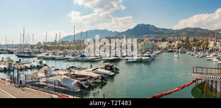 Benalmádena port, luxury Puerto Marina, Costa del Sol, Málaga province. Andalusia, Southern Spain, Europe. - Stock Photo