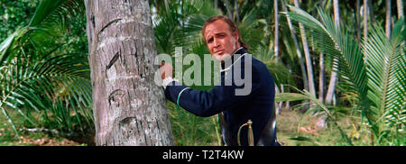 LES REVOLTES DU BOUNTY MUTINY ON THE BOUNTY 1962 de Lewis Milestone Marlon Brando. histoire vraie; aventure; true story; adventure;  d'apres le roman - Stock Photo