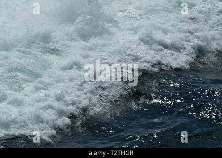 tsunami, tidal wave, seismic sea wave - Stock Photo