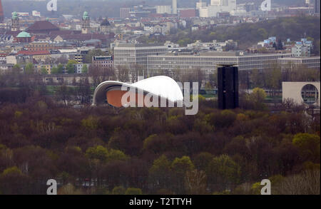 Berlin, Germany. 03rd Apr, 2019. Berlin Congress Hall in the Tiergarten. Credit: Wolfgang Kumm/dpa/Alamy Live News - Stock Photo