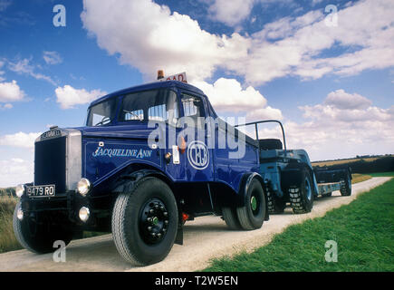 1950's Scammell Highwayman tractor unit. - Stock Photo