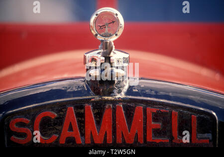 1950's Scammell Highwayman tractor unit. radiator badge. - Stock Photo