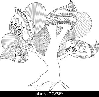 hollow tree coloring page artwork t2w5py