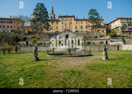 Ancient Palazzo Brambilla in Cassano d'Adda - Stock Photo