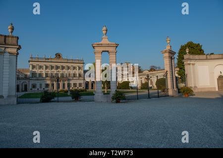 Villa Borromeo in Baroque style in Cassano D'adda - Stock Photo