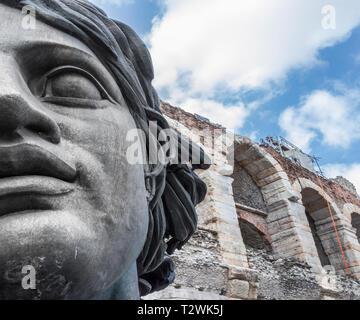 Roman amphitheatre Arena di Verona view. Verona, ITALY - May 25, 2017. - Stock Photo