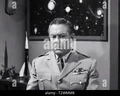 Army and navy screen from Plan 9 From Outer space - Lyle Talbot - Ed Wood - Stock Photo