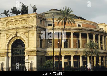 teatro politeama garibaldi, palermo, sicilia (sicily), italy - Stock Photo