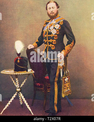 EDWARD VII (1841-1910) about 1860 as Prince of Wales - Stock Photo