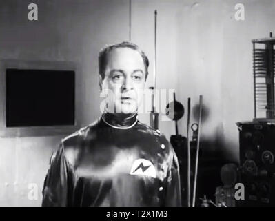 Screenshot of the Aliens from Plan 9 From outer Space - Stock Photo
