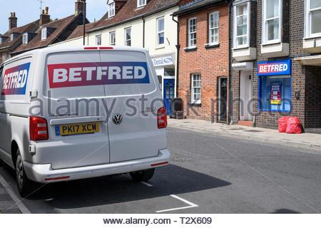 Betfred gambling, Blandford Forum, Dorset, England, UK - Stock Photo