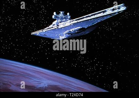 STAR DESTROYER, STAR WARS: EPISODE IV - A NEW HOPE, 1977 - Stock Photo
