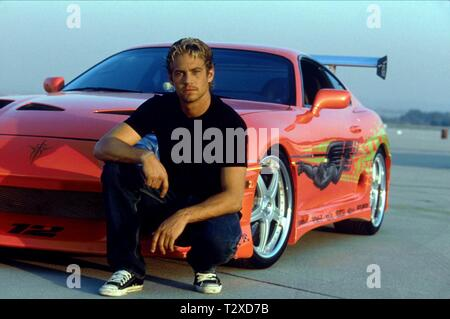 PAUL WALKER, THE FAST AND THE FURIOUS, 2001 - Stock Photo