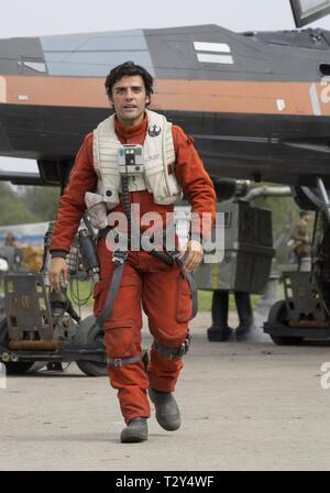 OSCAR ISAAC, STAR WARS: EPISODE VII - THE FORCE AWAKENS, 2015 - Stock Photo