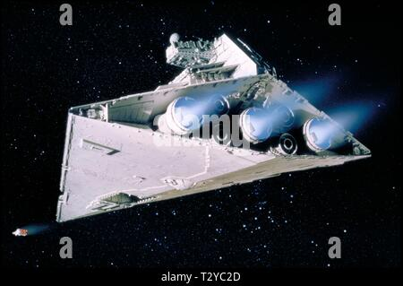 IMPERIAL DESTROYER, STAR WARS: EPISODE IV - A NEW HOPE, 1977 - Stock Photo