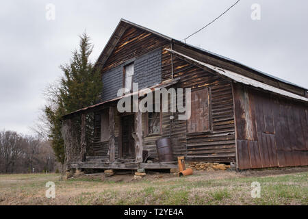 The country store featured in Dorothea Lange's iconic photograph Country Store on a Dirt Road (aka Old Gold) still stands in Gordonton, North Carolina. - Stock Photo