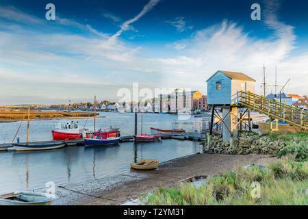 Wells-next-the- sea on a nice November evening - Stock Photo
