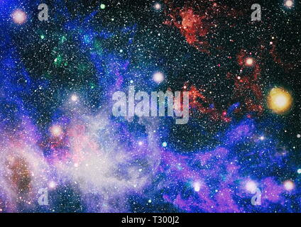 The explosion supernova. Bright Star Nebula. Distant galaxy. Abstract image. Elements of this image furnished by NASA. - Stock Photo