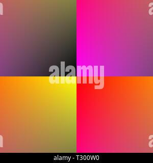 Brown, pink, orange and yellow squares - Stock Photo