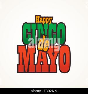 Cinco de Mayo lettering greeting text illustration. - Stock Photo