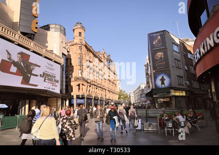 Leicester Square, West End, London, England, UK - Stock Photo