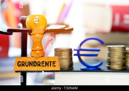 PHOTOMONTAGE, stamp with the label Ground rent, FOTOMONTAGE, Stempel mit der Aufschrift Grundrente