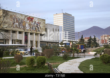 National History Museum in Tirana. Albania - Stock Photo