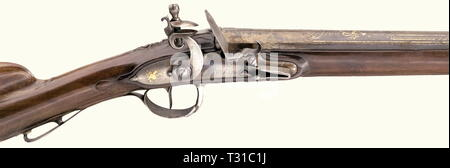 Civil long arms, flintlock and caplock, flintlock hunting shotgun, France, circa 1800, Additional-Rights-Clearance-Info-Not-Available - Stock Photo