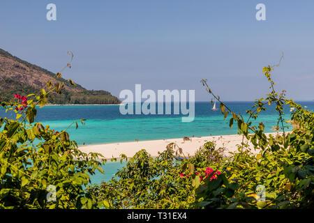 February 2019. Ko Lipe Thailand. A view of the beach in Ko Lipe in Ko tarutao national park in Thailand