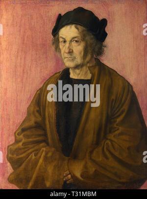 Albrecht Drer - Portrait of Drer's Father at 70 - Stock Photo