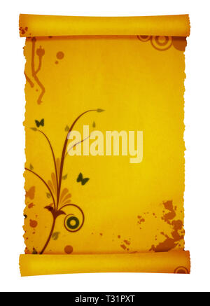 old scroll parchment background for your messages and designs - Stock Photo