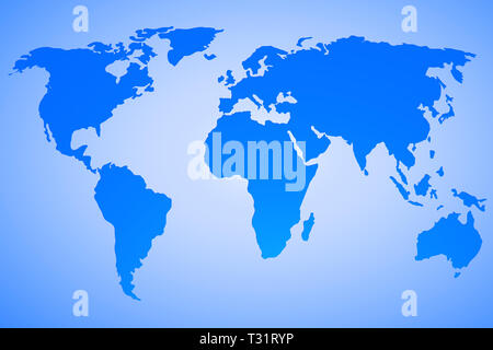 world map vector design on blue gradient background. Map used to trace http://www.lib.utexas.edu/maps/world maps/world pol02.jpg Their copyright state - Stock Photo