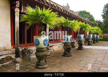 The Hung To Mieu Temple in the Imperial City, Hue, Vietnam - Stock Photo