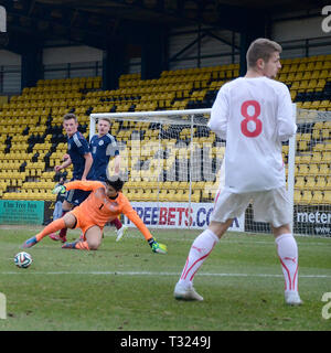 LIVINGSTON, SCOTLAND - 5th MARCH 2014: Scotlands Mens U19s - Stock Photo