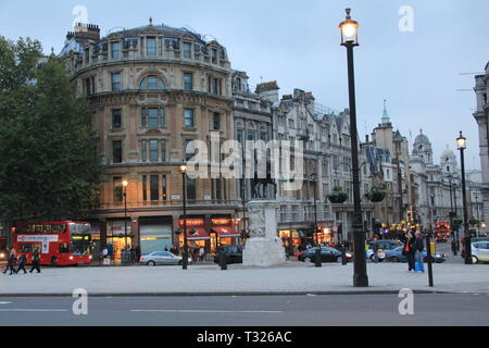 Trafalgor Suare in London. Great Britain - Stock Photo