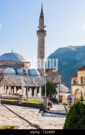 Nesuh-aga Vucijakovic mosque, Mostar, municipality of Mostar, Bosnia and Herzegovina - Stock Photo