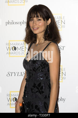 Guests attend the Stylist's inaugural Remarkable Women Awards in partnership with philosophy at Rosewood London  Featuring: Jasmine Hemsley Where: London, United Kingdom When: 05 Mar 2019 Credit: Phil Lewis/WENN.com - Stock Photo