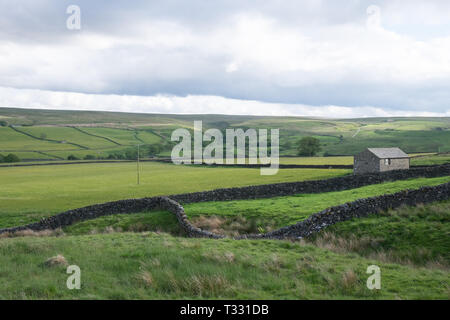 High Birk Hatt Farm at Hannah's Meadow Nature Reserve, part of the Durham Wildlife Trust in Teesdale, County Durham. - Stock Photo