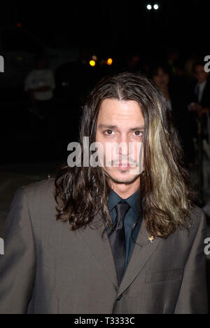 LOS ANGELES, CA. March 29, 2001: Actor JOHNNY DEPP at the Hollywood premiere of his new movie Blow. © Paul Smith/Featureflash - Stock Photo