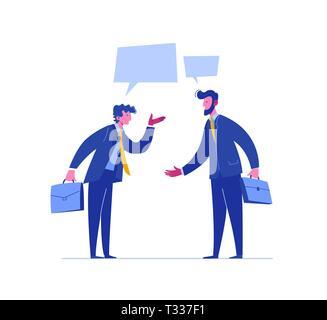 Businessman Conflict Complete Investor Portfolio. Confrontation People Relationship. Concept Business Solution. Different Legal Argument. Dispute - Stock Photo