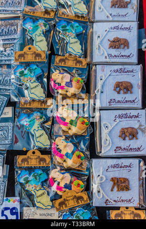 View of the market in Phuket Old Town - Stock Photo