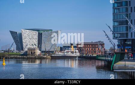 Belfast Harbour - Stock Photo
