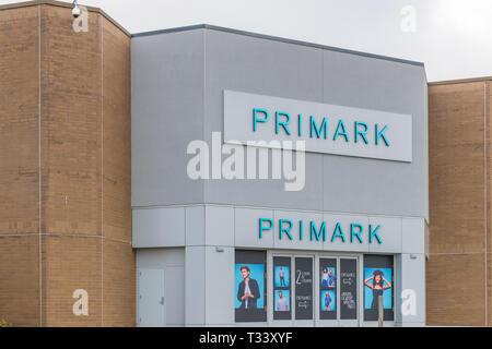 New Jersey NJ,October 7 2018: Primark is an international clothing retailer. - Stock Photo