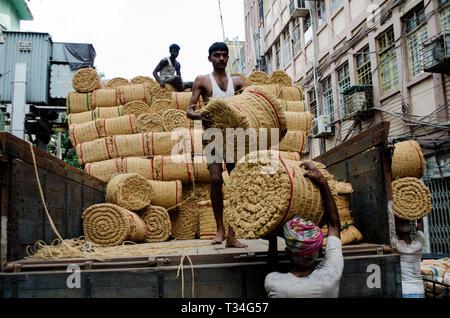 Migrant labours of Kolkata, India - Stock Photo
